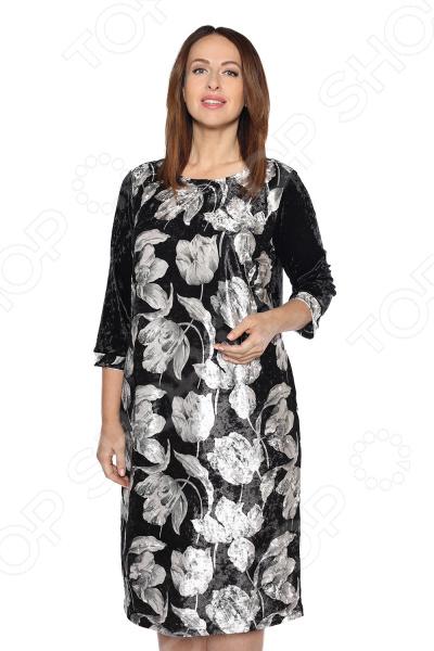 Платье Лауме-Лайн «Бархатный сезон». Цвет: серый