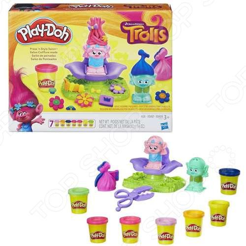 Набор пластилина игровой Hasbro Play-Doh «Тролли» игровой набор play doh битва халка
