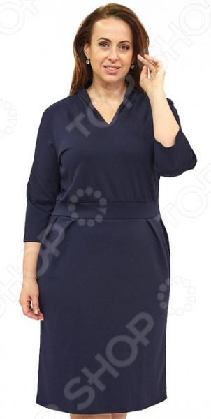 Платье Матекс «Императорская походка». Цвет: синий