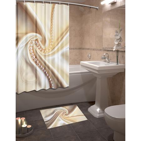 Купить Набор для ванной комнаты: шторка и коврик ТамиТекс «Шелк»