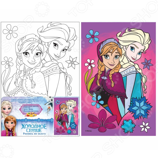 Набор для росписи по холсту Росмэн Disney «Холодное сердце» Набор для росписи по холсту Росмэн Disney «Холодное сердце» /