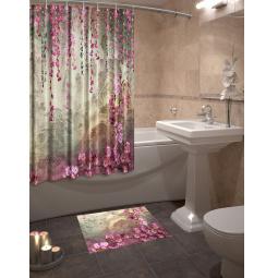 Набор для ванной комнаты: шторка и коврик ТамиТекс «Притча»