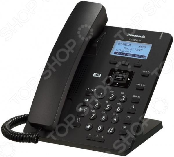 IP-телефон Panasonic KX-HDV130RU радиотелефон dect panasonic kx tg6811rub черный
