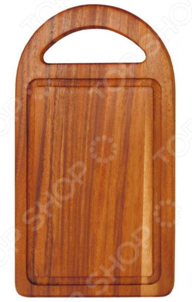 Доска разделочная Oriental Way тонированная с ручкой разделочные доски oriental way доска разделочная прямоугольная с желобком