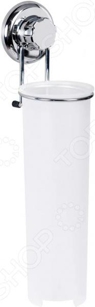 Держатель для ватных дисков Tatkraft Mega Lock полка для ванной комнаты tatkraft mega lock цвет серый металлик 38 x 14 x 6 см