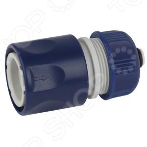 Коннектор для шланга с аквастопом Green Apple GAES20-05 коннектор гибкий для шланга green apple gwfc120 024