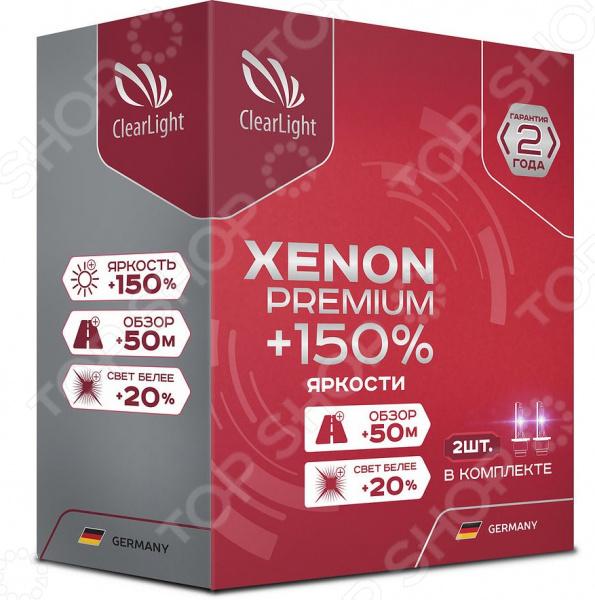 Комплект автоламп ксеноновых ClearLight Xenon Premium +150% H1