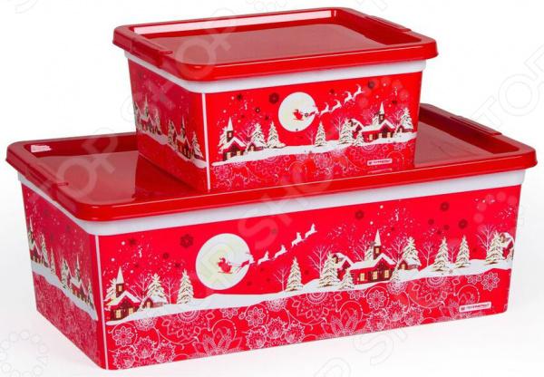 Набор коробок Полимербыт SGHPBKP38 «Новый Год»
