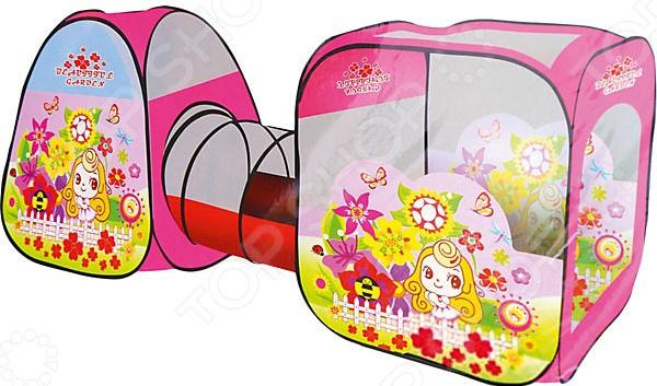 Палатка игровая с туннелем Наша Игрушка «Цветочный рай» в сумке