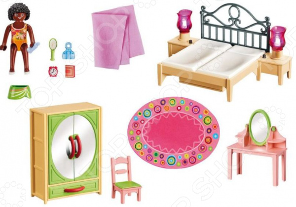 Игровой набор Playmobil «Кукольный дом: Спальная комната с туалетным столиком» playmobil игровой набор кукольный дом жилая комната