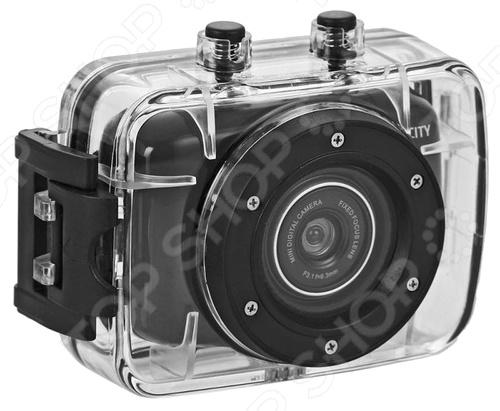 Экшен-камера ParkCity GO 10 PRO идеальное портативное устройство, которое способно полностью передать весь драйв вашего приключения. Камера весит всего 50 грамм, поэтому она легко поместится даже в вашем нагрудном кармане. Аэродинамический корпус сокращает сопротивление ветра, поэтому вы сможете снимать, даже если едете на велосипеде, катаетесь на скейте или на сноуборде. Благодаря простой и интуитивно понятной системе управления, пользоваться камерой очень просто и удобно. Камера оснащена более мощным процессом и матрицей типа CMOS, которая позволяет создавать великолепное видео с максимальным разрешением 1280х720 с частотой до 30к с. Отличительной особенностью данной модели является водонепроницаемый противоударный бокс с высоким уровнем защиты от ударов и проникновения влаги, что делает эту камеру верным решением для съемок в различных условиях.