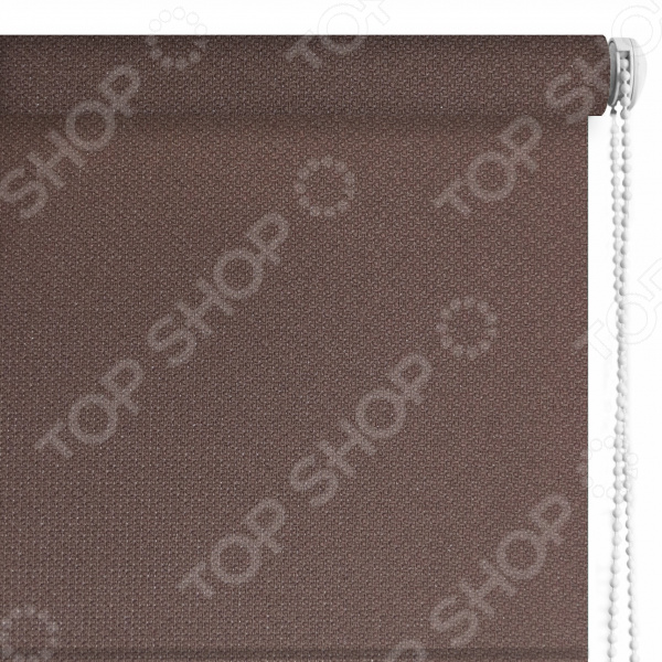 Рулонная штора Эскар «Рояль». Цвет: коричневый