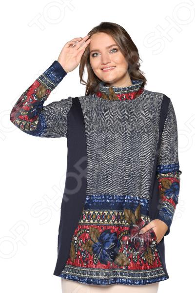 Блуза Лауме-Лайн «Светлый вечер». Цвет: синий блуза лауме стиль заветное признание цвет черный