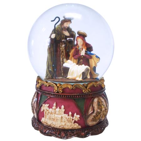 Купить Снежный шар музыкальный Crystal Deco «Рождество» 1707562