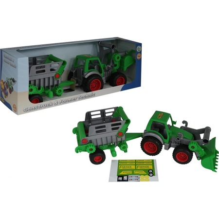 Купить Машинка игрушечная Wader «Фермер-техник. Трактор-погрузчик с полуприцепом №2»
