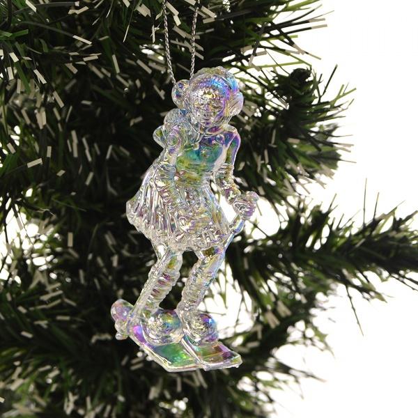Елочное украшение Crystal Deco «Девочка на лыжах». В ассортименте елочное украшение crystal deco лошадка в ассортименте