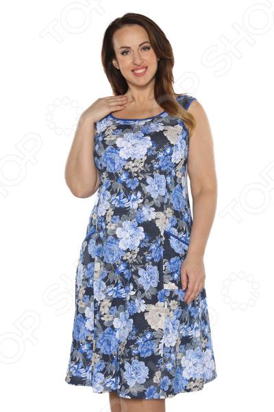 Платье Алтекс «Варенька». Цвет:синий