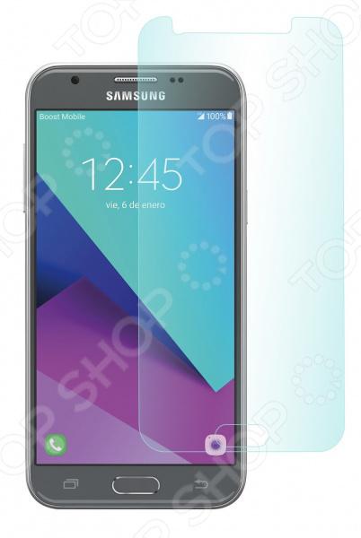 Стекло защитное skinBOX Samsung Galaxy J3 (2017) аксессуар чехол накладка samsung galaxy j3 2017 skinbox silicone chrome border 4people gold t s sgj32017 008