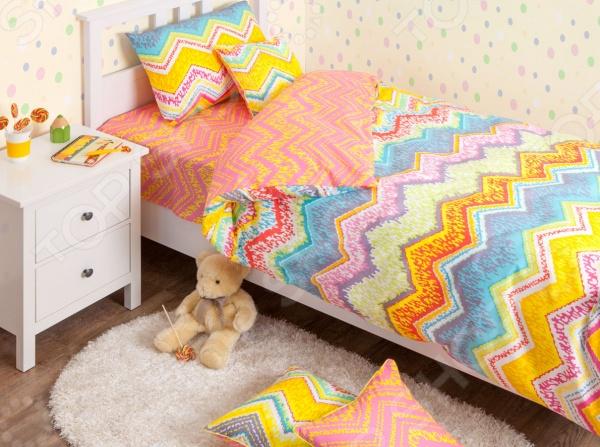 где купить  Детский комплект постельного белья Хлопковый Край Zigzag orange  по лучшей цене