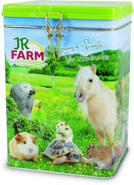 Банка для хранения сухого корма JR Farm 13249 Harvest-fresh for Animals игровые наборы tomy britains big farm фермерский прицеп со свинками
