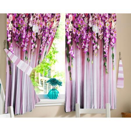 Купить Комплект фотоштор ТамиТекс «Ламбрекен из цветов»