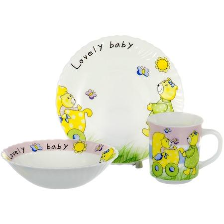 Детский набор посуды 3 предмета Olaff