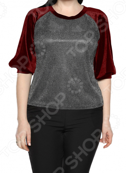 Блуза Лауме-Лайн «Магия красок». Цвет: бордовый блуза лауме лайн шикарный букет цвет розовый