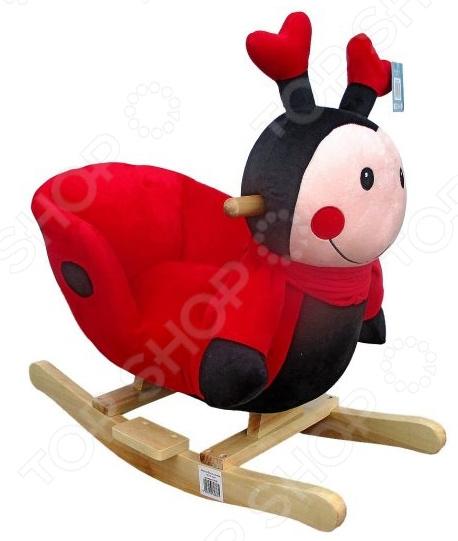 Качалка детская Наша Игрушка «Божья коровка» корзины для игрушек lilliputiens божья коровка лиза игрушка корзина