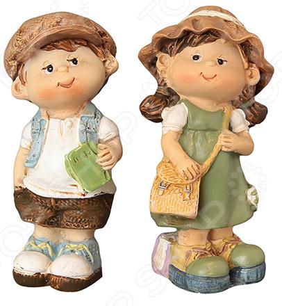 Набор декоративных фигурок Elan Gallery «Мальчик и девочка»
