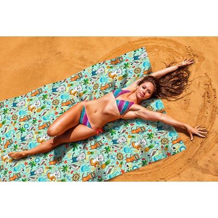 Купить Покрывало пляжное Сирень «Веселые коты»