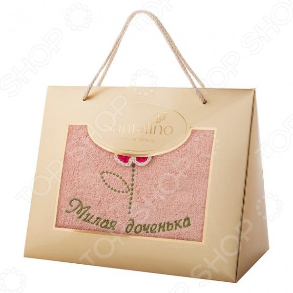 Полотенце махровое «Милая доченька» 850-330-12