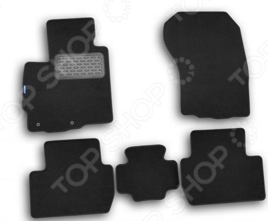 Комплект ковриков в салон автомобиля Novline-Autofamily Peugeot 4007 2007 кроссовер. Цвет: черный комплект 3d ковриков в салон автомобиля novline autofamily ford mondeo 2015