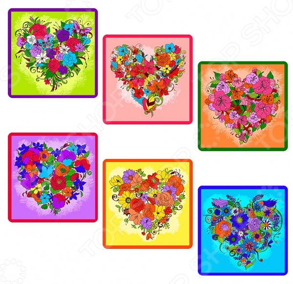 Прихватка Мультидом «Цветочное сердце» Z22-35. В ассортименте набор кухонный прихватка и рукавица мультидом светлая пасха z22 39 в ассортименте