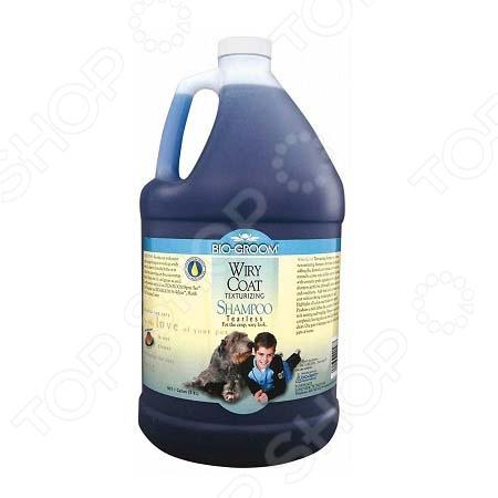 Шампунь-кондиционер для животных Bio-Groom Wiry Coat. Объем: 3,8 л шампунь bio groom wiry coat shampoo текстурирующий без слез для жесткой шерсти для собак 355мл 22012