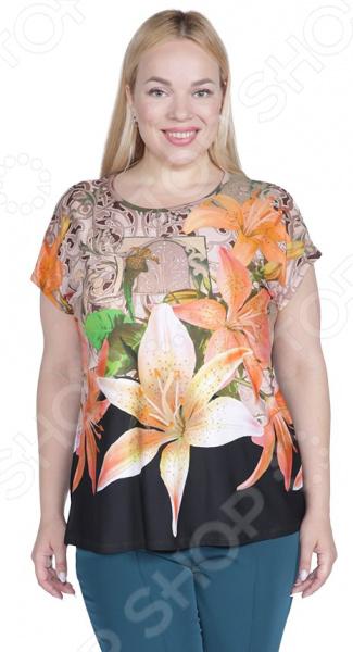 Блуза Лауме-Лайн «Яркая лилия»