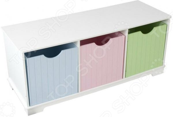 Скамья с ящиками KidKraft Storage Bench Pastel 4