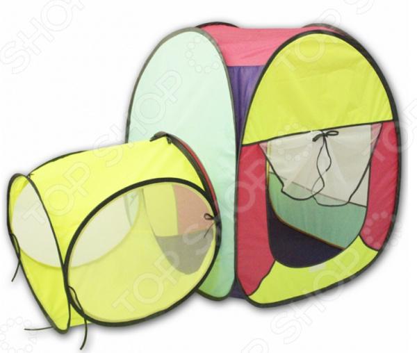Палатка игровая с туннелем BELON «Квадрат»