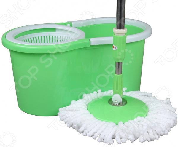Комплект для уборки полов: швабра и ведро с отжимом Rosenberg R-800007 rosenberg r 519