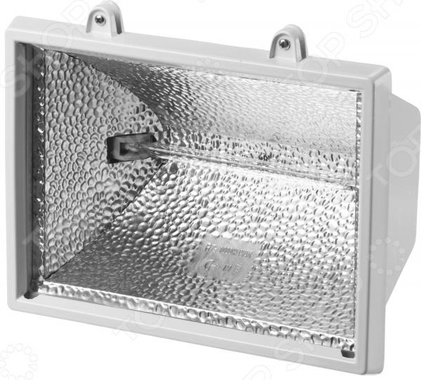 Прожектор переносной Stayer Master MAXLight 57105 применяется для освещения крупных объектов на расстоянии зданий, архитектурных памятников, площадок и пр.   Герметичный корпус изготовлен из литого алюминия; благодаря особой обработке он не подвергается коррозии.  Степень защиты от воздействия пыли и влаги IP-54.  Крепление прожектора осуществляется на поворотный кронштейн возможность освещения предметов под разными углами.  Тип цоколя R7s, контакты из электротехнической меди.  Закаленное стекло используется для рассеивания света; материал выдерживает значительные перепады температур.  Отражатель света выполнен из алюминиевой фольги; его рельефное тиснение сохраняет свои свойства на протяжении всего срока использования прожектора.  Универсальная расцветка корпуса.  Имеются специальные кольца-фиксаторы из резины, которые предотвращают выпадение крепежных элементов.  Диапазон рабочих температур от -20 до 40 градусов.