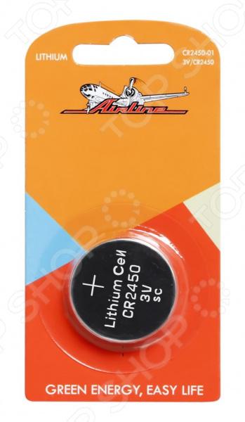 Батарейка для брелоков и сигнализаций литиевая Airline CR2450 элемент питания airline cr2032 01