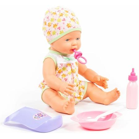 Купить Набор: кукла с соской и принадлежности для кормления POLESIE «Веселый»