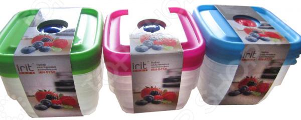 Набор контейнеров для хранения продуктов Irit IRH-025P. В ассортименте