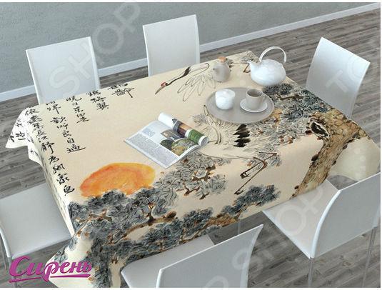 Фотоскатерть Сирень «Японская фреска» недорого