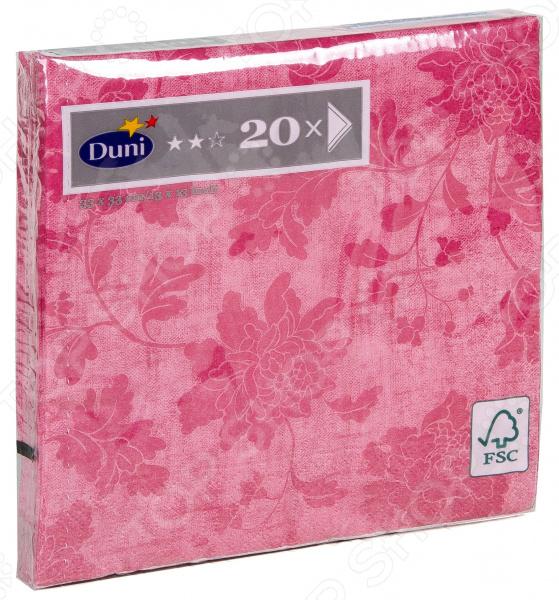 Салфетки бумажные Duni Venezia Rose 167222