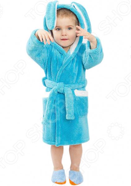 Халат для мальчика Dream Time «Зайка». Цвет: бирюзовый