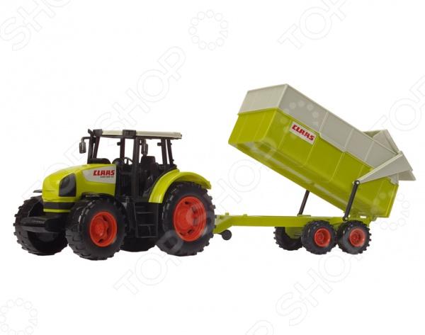 Машинка игрушечная Dickie «Трактор с прицепом» машины tomy john deere трактор monster treads с большими колесами и вибрацией