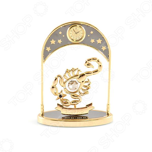 Фигурка декоративная Crystocraft «Знак зодиака. Скорпион» с кристаллами Swarovski с часами  картина с кристаллами swarovski знак зодиака рак 25 см х 25 см