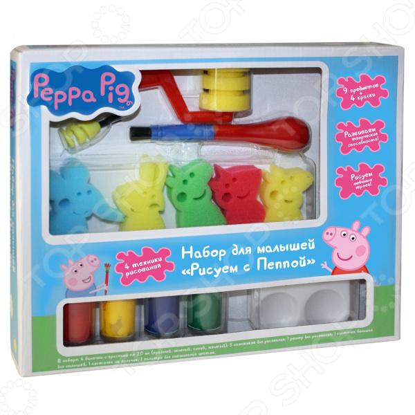 Набор для рисования Peppa Pig «Рисуем с Пеппой» книжка росмэн рисуем пальчиками красная peppa pig
