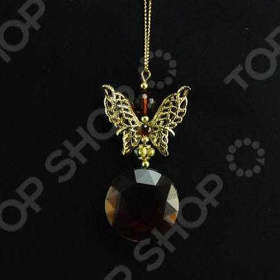Новогоднее украшение Crystal Deco «Бабочка с камнем» Новогоднее украшение Crystal Deco «Бабочка с камнем» /