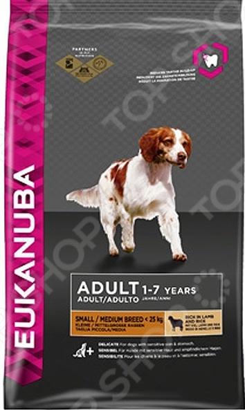 Adult Small & Medium Breed Lamb & Rice Корм сухой для собак мелких и средних пород Eukanuba Adult Small & Medium Breed Lamb & Rice